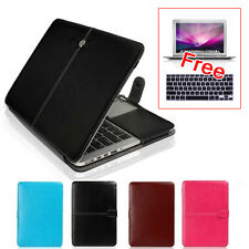 "Laptop Leather Sleeve Bag Case Cover For Macbook Air 11/13"" Pro 13 Retina 13/15"""