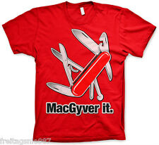 MACGYVER  MACGYVER IT  T-Shirt  camiseta cotton officially licensed