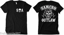 SONS OF ANARCHY OUTLAW  T-Shirt  camiseta cotton officially licensed