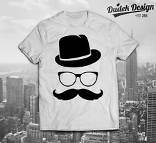 Hipster T shirt Swag Funny  Dope Fresh FASHION HAT MUSTACHE INDIE VOGUE CELINE