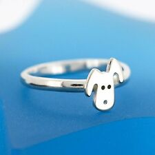 Handmade 925 Sterling Silver Doggy Ring - Stacking Ring