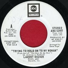 """LAMONT DOZIER """"Trying To Hold On To My Woman"""" ABC 11407 EX WLP Soul"""