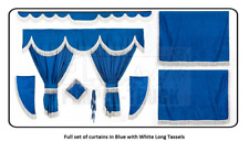 Full set of lined Truck curtains in BLUE