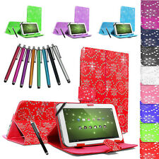 "Universal 7"" PU Leather Tablet Case Cover Pouch Stand Folding Folio For All 7"""