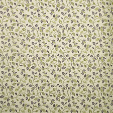 iLiv Clarice Leaves Polyester Woven Curtain Upholstery Blind Fabric | Berry