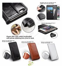 Genuine Real Leather Flip Wallet Case Cover Pouch For Apple iPhone 6 6S PLUS