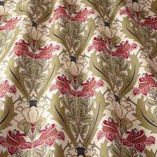 SMD iLiv Cherry Floral/Damask Print 100% Cotton Curtain Fabric