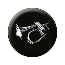 (16627) Anstecknadel Music Button 5,7 cm Pin Musik Motiv • ROCK YOU© •