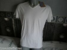 TEE-SHIRT Marque YES ZEE Neuf  Blanc Homme Taille XL Effet double maillot Coton