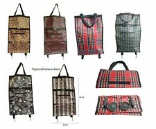 Folding Shopping Trolley Grocery Bag Quality Lightweight Easy Foldable on wheels
