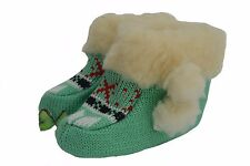 CHILDREN GIRLS BOYS  KNITTED KIDS SLIPPERS BOOTS WARM BOOTS FUR COMFTY