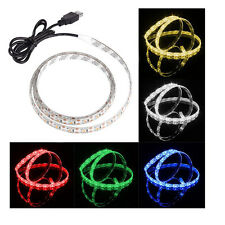 Etanche RGB USB LED Strip Bande Ruban 3528 5050 SMD Light TV PC Tab Câble 5V