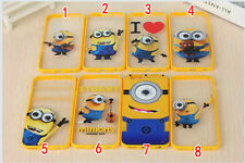 New Despicable Me Minions Big Rolling Eye Case Cover For iPHONE 4,4S,5,5S,6,6+