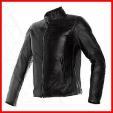 Giacca Pelle Dainese Mike Black Moto Scooter Protezioni Uomo