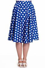 Hell Bunny Blue Mariam Polka Dot 50's Skirt