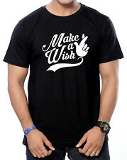 Round Neck  Cotton Printed ( Make a Wish ) T-Shirts for Men