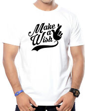 Round Neck Cotton Printed(Make a Wish) T-Shirts for Men