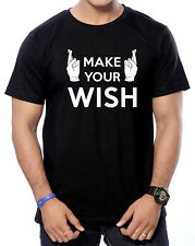 Round Neck  Cotton Printed ( Make Your Wish ) T-Shirts for Men