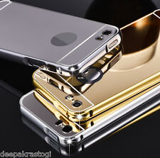 Luxury Aluminium Frame Bumper With Mirror Acrylic Back Cover For  iphone 5 / 5S