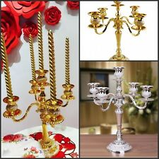 Candelabra Silver/Gold Plated candle holder with 5 Arm chandelier wedding 40 cm