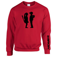 Banksy Boy Meets Girl Womans Sweater Jumper Sweatshirt Graffiti Artist TS663