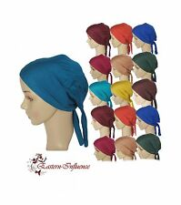 NEW COTTON TIE BACK UNDER HIJAB SCARF HAIR COVER BONE SLIP ON CAP JILBAB