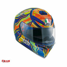 CASCO INTEGRALE MOTO AGV K-3 SV REPLICA VALENTINO ROSSI FIVE CONTINENTS