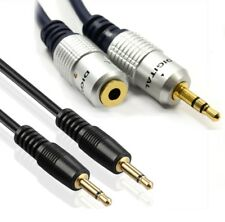3.5mm Jack Male to Male Black /OFC Male to Female Aux Headphone Audio Cable UK