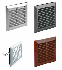 Ducting Ventilation Cover with Fly Screen 170mm x 170mm Wall Air Vent Grille