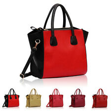 Large Faux Leather Ladies Designer Womens Shoulder Bag Cross Body Handbag Totes
