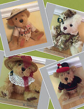 4 NEW NWT Plush BEARS Pickford BRASS BUTTON COLLECTIBLEs LOT Stuffed Animals