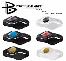 Power Balance Silikon Energie Sport Fitness Armband Black Red Gold Hologram NEU