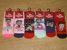 Ladies Official Licensed Betty Boop Character Socks. BNWT. Size 4-8. (256)