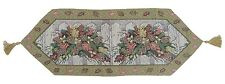DaDa Bedding Holiday Christmas Floral Tapestry Place Mat Table Runner for Dining