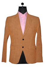 MENS STYLISH RUST  CORDUROY BLAZER .BLAZER ONLY. NO TROUSER &  NO SHIRT
