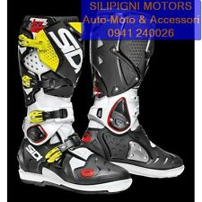 SIDI CROSSFIRE 2 SRS col.Bianco-Nero-Giallo Fluo Stivale Off Road Cross Enduro