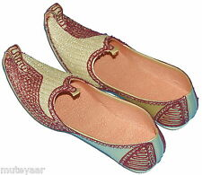 Hand Made Wedding Groom Achkan Sherwani Punjabi Jutti Khussa Mojari Shoes ACJ09