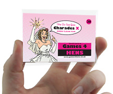 CHARADES HEN PARTY GAME choose CLEAN or DIRTY Hen Do Activity Classic Classy Fun
