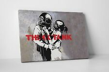 Banksy Think Tank Gallery Wrapped Canvas Print