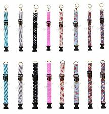 Fabric key fob Bracelet with Detachable Buckle and Key chain adjustable size