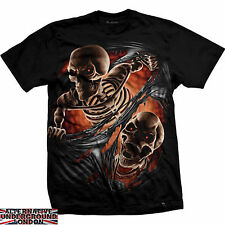 Camiseta DARKSIDE CLOTHING TEAR THROUGH Esqueleto Miedo Calavera Todas Tallas