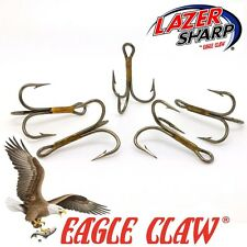 Eagle Claw Treble Hooks 974 Sizes 2 - 10  Bronze Pike Spinners Lures Flying Cs