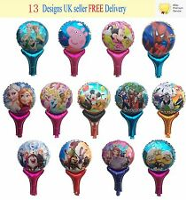 Reuseable Children Party Hand Balloons Frozen Peppa Pig Minions PawPatrol Mickey