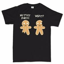 Gingerbread Men Funny Christmas Xmas Gift Present New Stocking Filler T shirt