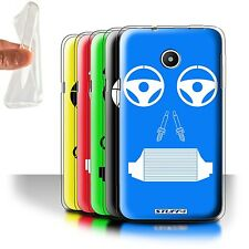 STUFF4 Gel/TPU Phone Case for Huawei Ascend Y330 /Car Part Faces