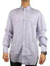 BROOKSFIELD REGULAR FIT 72010011110 BIANCO VIOLA Camicia manica lunga Uomo