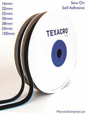 1m Hook and Loop Pair Self Adhesive Sticky Strip Black White 10mm - 100mm