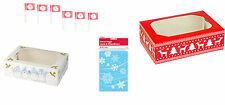 Christmas Cupcake Muffin Cake Cookie Treat Bags Boxes Picks
