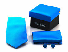 Mens £10 Cufflink Tie Hanky All in One Gift Set Birthday Christmas Secret Santa
