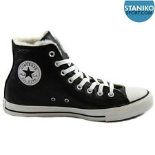 Mens CONVERSE CT HI Black Winter Leather Trainers with Fur 144726C UK 7.5 EUR 41